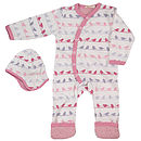 New Baby Romper Pink Birds