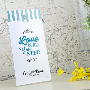 'Love Is All You Need' Wedding Invitation - wedding stationery