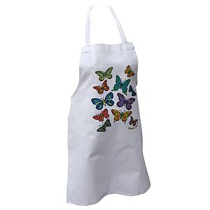 Colour In Children's Butterflies Apron - aprons