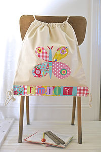 Girls Personalised Butterfly Bag - back to school essentials