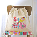 Girls Personalised Butterfly Bag