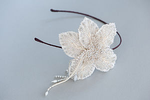 Cordelia Flower Headband - wedding fashion