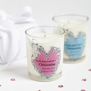 Christening Party Personalised Candle Favours
