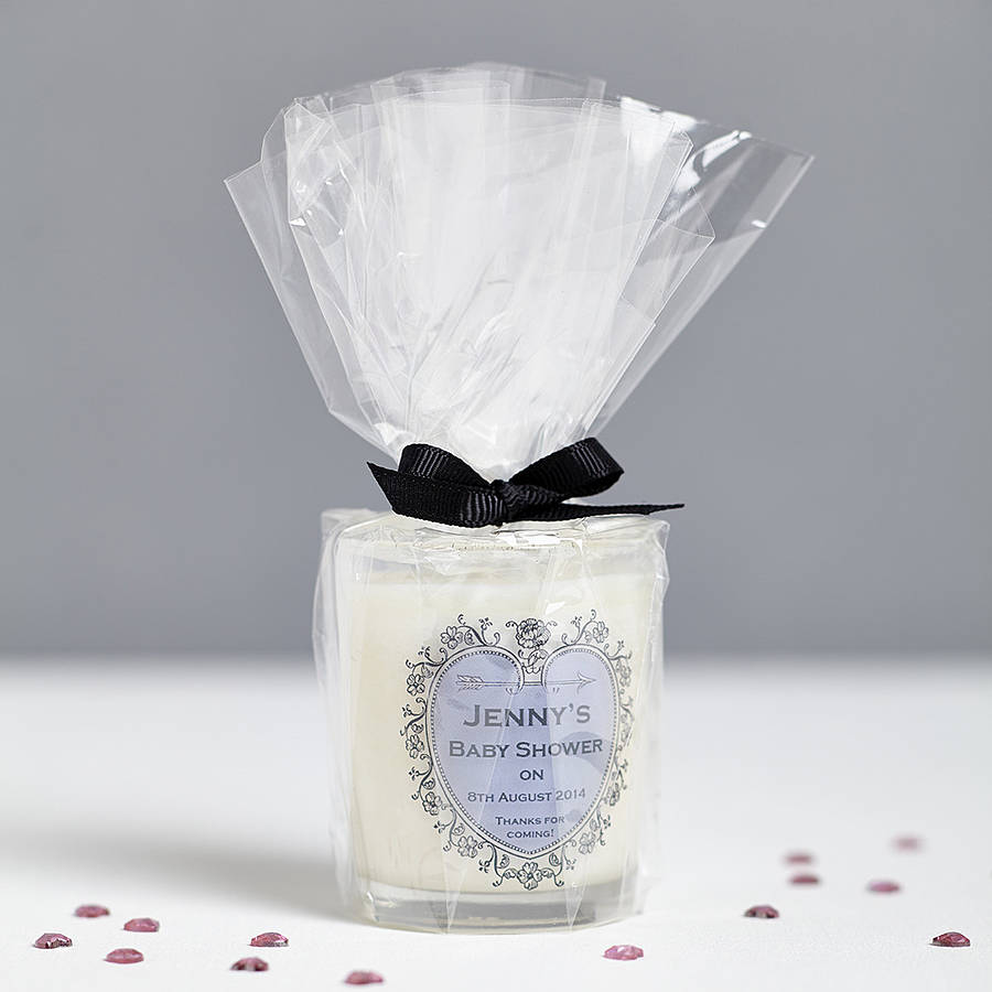 baby shower personalised candle favours by hearth & heritage ...