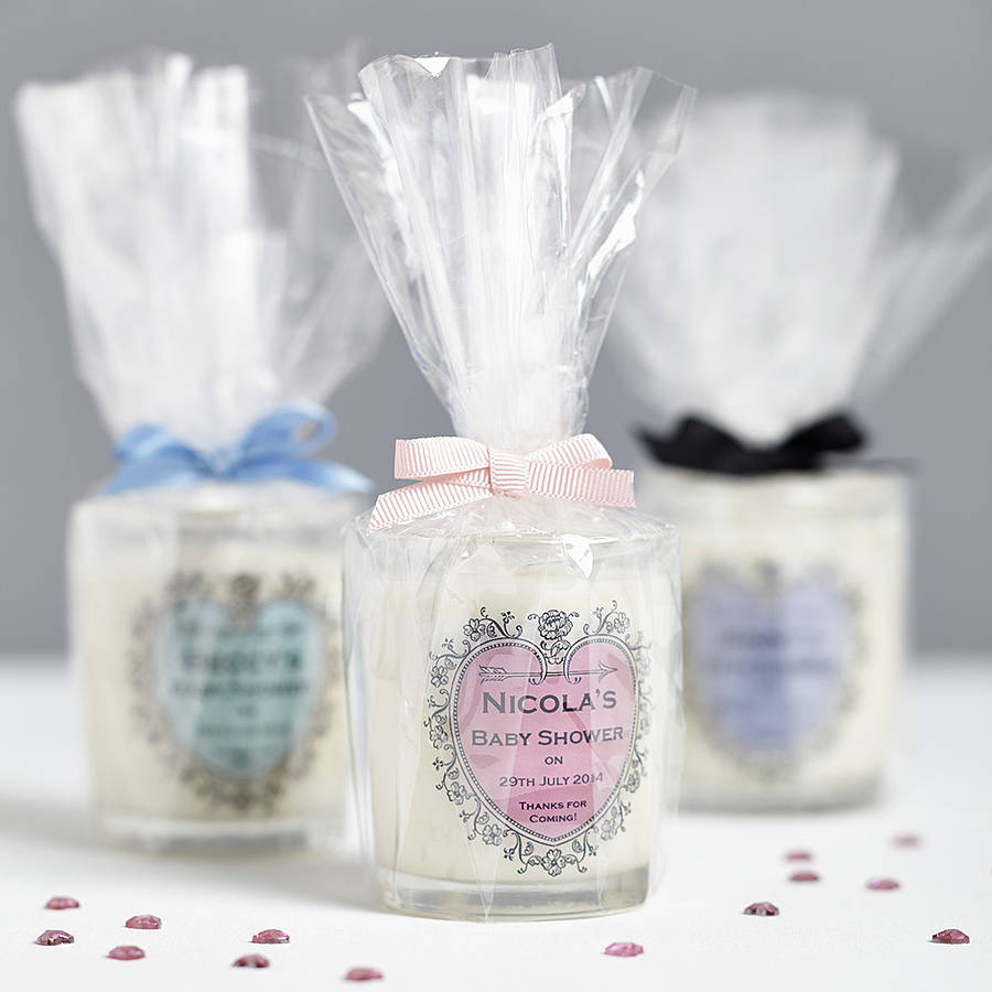 Baby Shower Personalised Candle Favours By Hearth