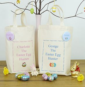 Personalised Children's Easter Egg Hunt Bag