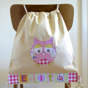 Personalised Owl Bag - children's room