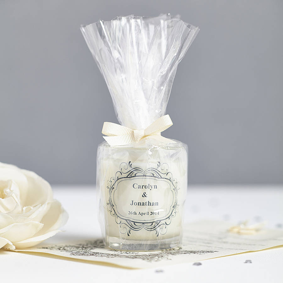 Wedding Candles: Wedding Favour Personalised Scented Candles By Hearth