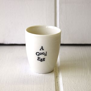 A Good Egg Porcelain Egg Cup - egg cups & cosies