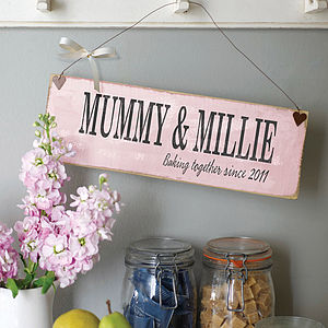Personalised Motherly Moment In Time Sign - gifts by budget