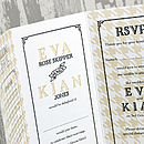 Vintage Typography Wallet Wedding Invitation