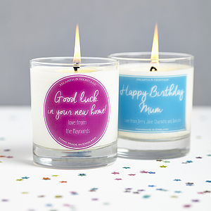 Personalised Gift Scented Candle - candles & candlesticks