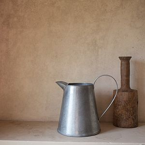 Antique Style Grey Metal Jug - tableware
