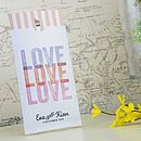 Love Love Love Wallet Wedding Invitation