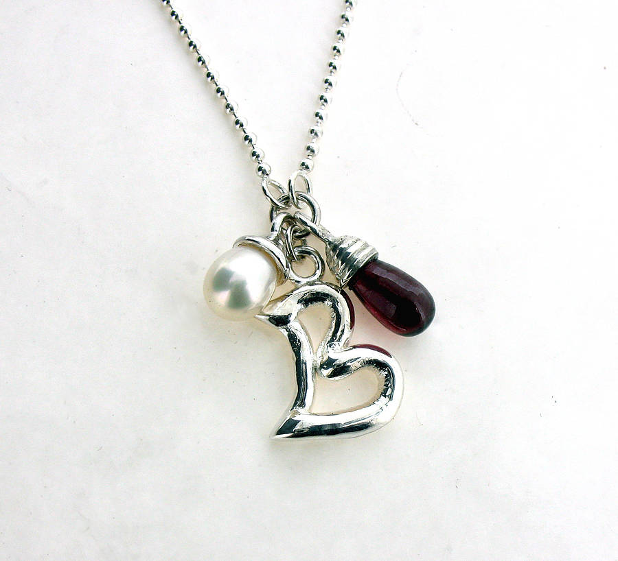 Personalised Pearl And Garnet Necklace