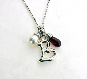 Personalised Pearl And Garnet Necklace - children's accessories