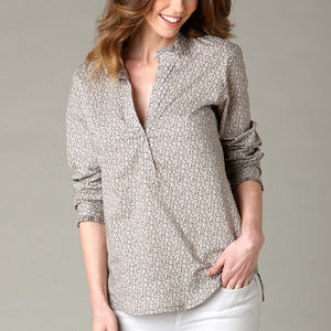 Frill Collar Liberty Lawn Shirt - luxury fashion