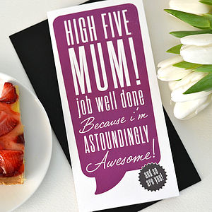 'High Five Mum!' Mother's Day Card
