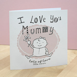 Children's Personalised Mummy Card - mother's day cards