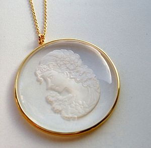 Crystal Cameo Pendant - necklaces & pendants