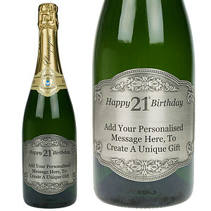 Personalised Classic 21st Birthday Champagne