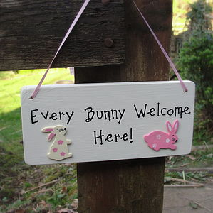 Personalised Easter Sign - easter decorations