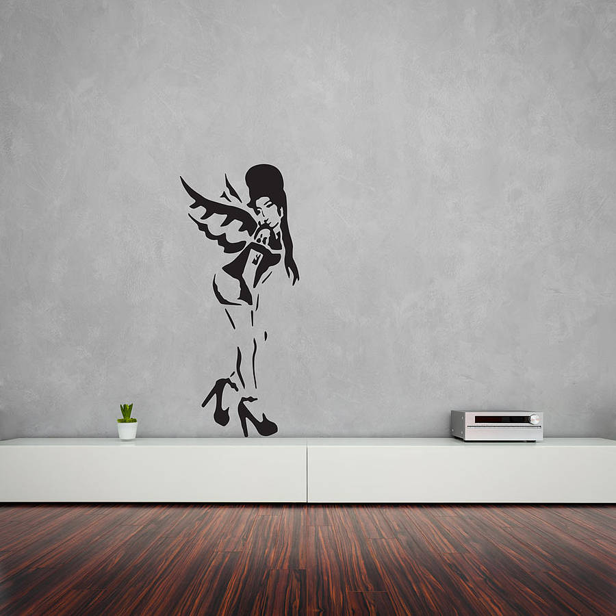 banksy amy winehouse vinyl wall art decal by vinyl revolution. Black Bedroom Furniture Sets. Home Design Ideas