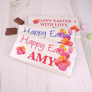 Easter Personalised Chocolate Bar - children's easter