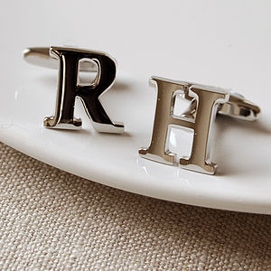 Initial Cufflinks - personalised gifts