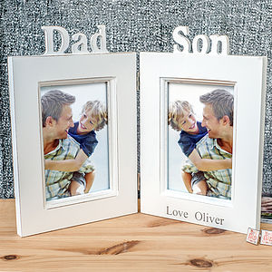Dad And Son Photo Frame - picture frames