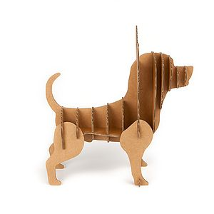Chihuahua Cardboard Dog Storage - shelves