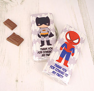 Superhero Party Bag Chocolate Gifts - chocolates