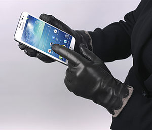 Beatrice. Women's Leather Touchscreen Gloves