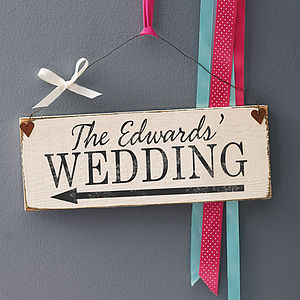 Personalised Vintage Style Party Sign