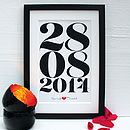 Personalised Wedding Date Framed Print