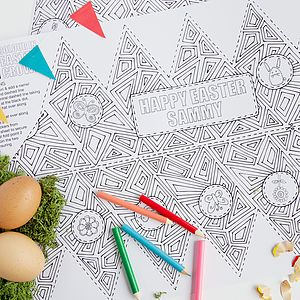 Colour In Easter Hats / Placemats Pack - tableware