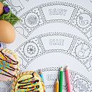 Colour In Easter Cupcake Wrappers X12