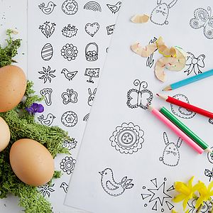 Colour In Easter Stickers