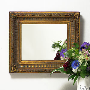 Fluted Antique Gold Mirror - mirrors