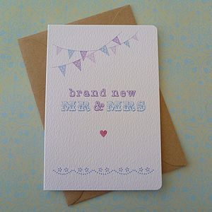Bunting And Lace Wedding Card