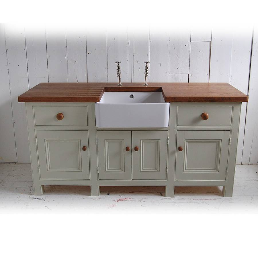 Freestanding Sink : free standing kitchen sink unit by eastburn country furniture ...