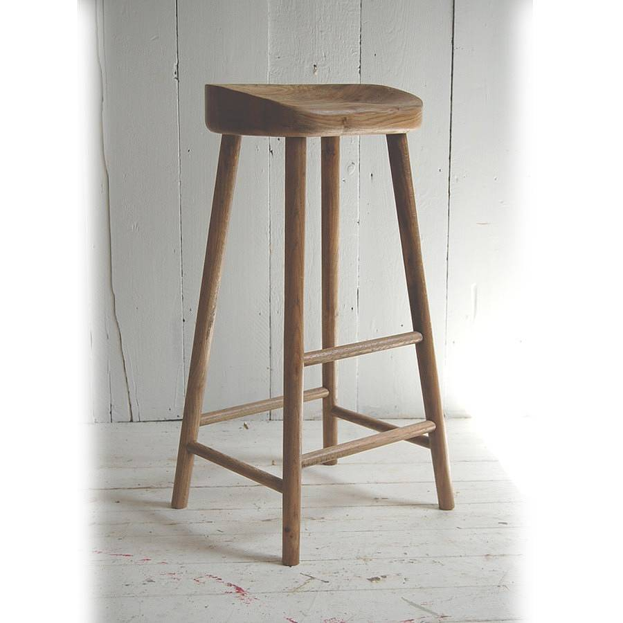 weathered oak bar stool by eastburn country furniture  : originaloak bar stool from www.notonthehighstreet.com size 900 x 900 jpeg 56kB