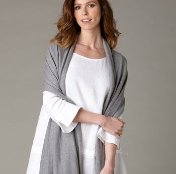 Cotton Cashmere Oversized Scarf