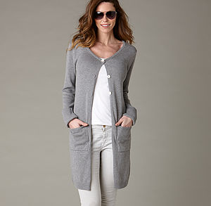 Cotton Cashmere Long Cardigan