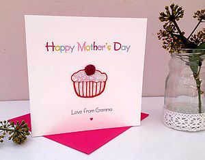 Cupcake Personalised Mother's Day Card