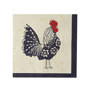 Rooster Paper Napkins Pk20 - tableware