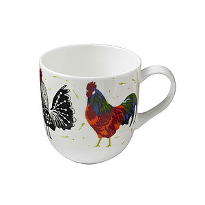 Rooster Round Sided Mug - mugs