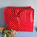 Red Polka Dot Recycled Jumbo Storage Bag