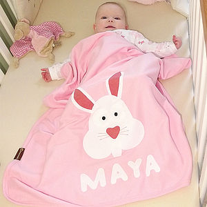 Personalised Baby Bunny Blanket - blankets, comforters & throws