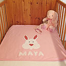 Personalised Bessie Bunny Blanket